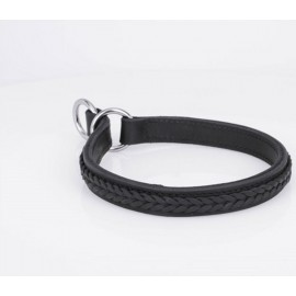 Leather Braided Labrador Collar for Obedience Training
