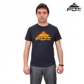 Dunkel-graues T-Shirt mit Logo