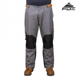 Dunkel-graue Trainer Hose mit Logo