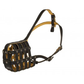 Leather Dog Muzzle for Labrador with Nappa Padding
