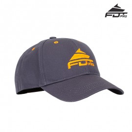 "Dark Grey Cotton Trainer Cap ""Train-in-Style"""