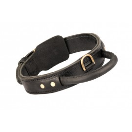 Durable 2 Ply Leather Dog Collar with Handle