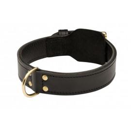 Zweischichtiges Lederhalsband k9 für Labrador