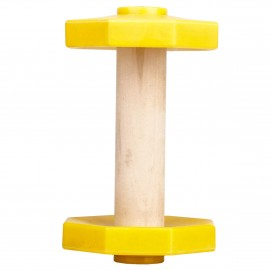 Holzhantel mit abnehmbaren Gewichtsplatten für Labrador