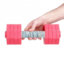'Safe Grab'  Dog Training Dumbbell with White Plates