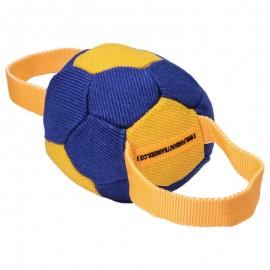Beißball  aus French Linen mit zwei Nylon Handschlaufen