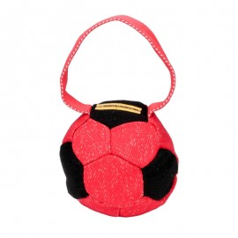 """Soccer Fan"" Colorful French Linen Dog Bite Tug"