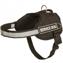 Brustgeschirr aus  für Diensthunde mit refelktierender Streife