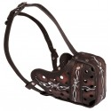 "Hand Painted ""Barbed Wire"" Leather Labrador Muzzle"