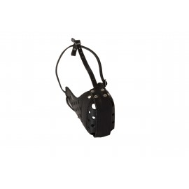 Leather Muzzle for Labrador with 2 Steel Bars, Extra Reliable