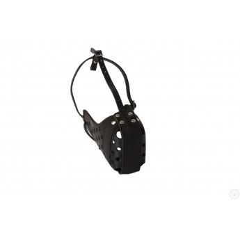 Hundemaulkorb Leder mit 2 Stahlschienen, extra sicher
