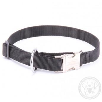Schwarzes Halsband aus Nylon für Labrador Designer Handarbeit