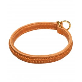 Leather Braided Labrador Collar for Obedience
