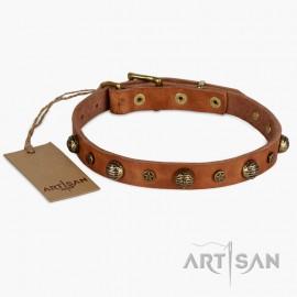 Ledernes Halsband mit einzgartigem Design von FDT Artisan für Labrador