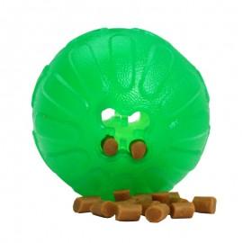Grüner Gummiball mit Leckerlis von Starmark