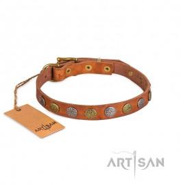 Nietenhalsband aus erstklassigem Leder von FDT Artisan