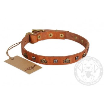 Piraten Stil Lederhalsband von FDT Artisan 20 mm