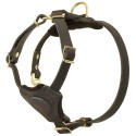 Labrador Puppy Harness of Soft Natural Leather