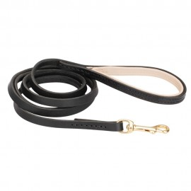 Qualitative Leather Dog Lead for Labrador with Snap Hooks