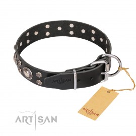 "Studded Leather Dog Collar ""Vintage Necklace"""