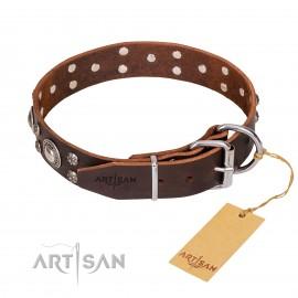 "Studded Leather Dog Collar ""Vintage Necklace"""