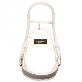White Assistant Nylon Dog Harness for Guide Labrador