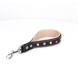 Short Leather Pull Tab with light colour padding