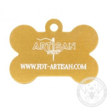 Bone-Shaped Dog Tag with Personal Engraving for Labrador